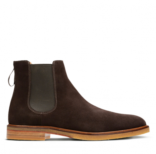 Clarks Clarkdale Gobi Dark Brown Suede, best chelsea boots