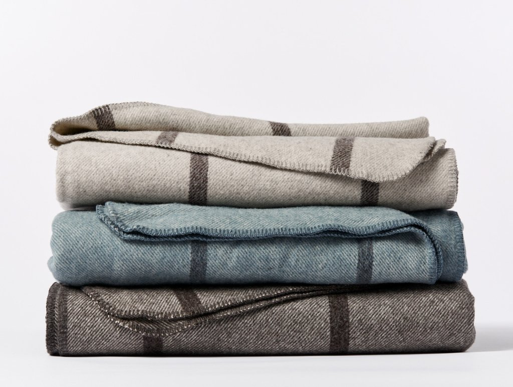 Tahoe Climate Beneficial Wool Throw by Coyuchi