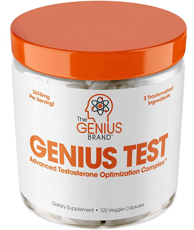 Genius Test Smart Testosterone Booster for Men; testosterone supplements