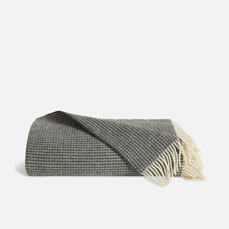 Honeycomb Wool Throw Blanket