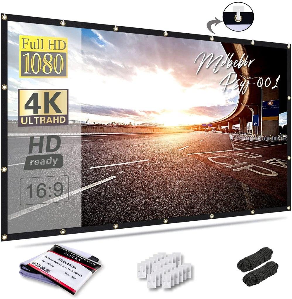 Mdbebbron 120 inch Projection Screen