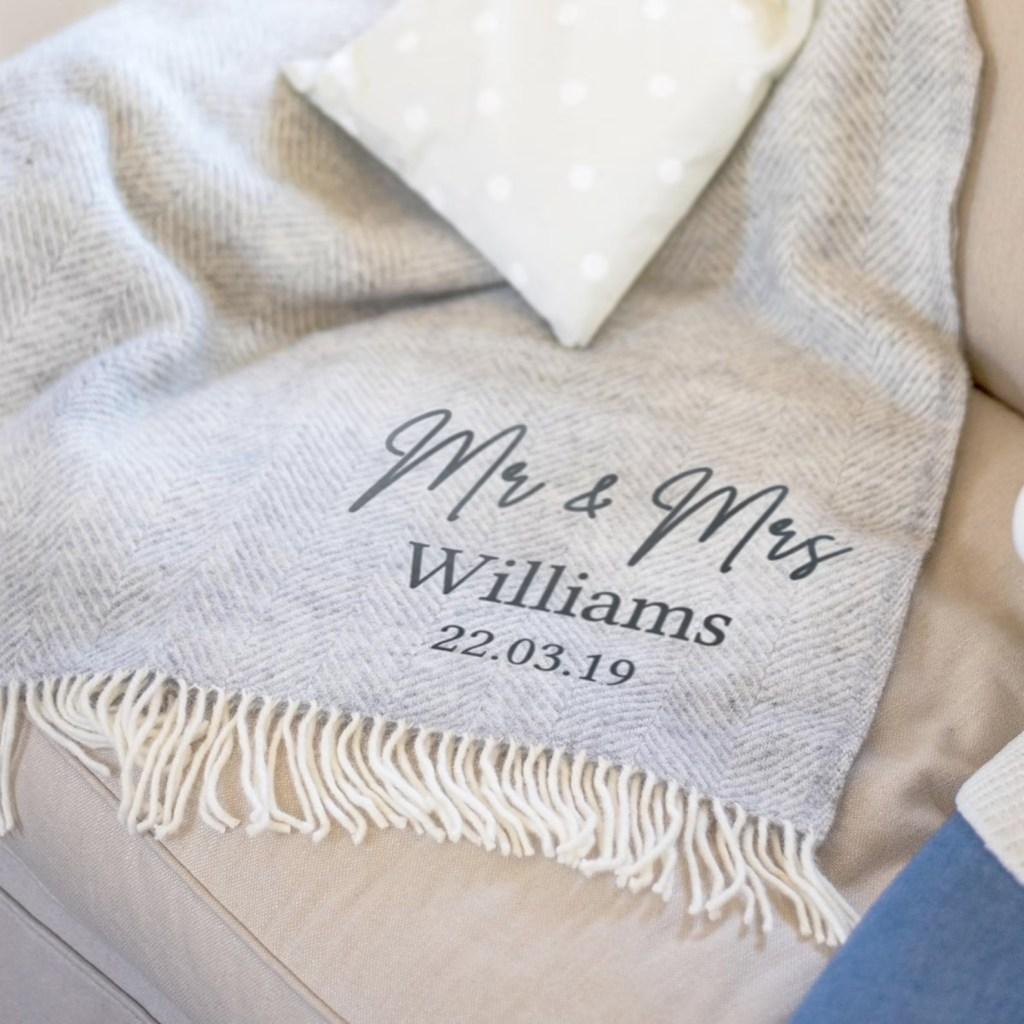 Personalized Wool Blanket by Jonny's Sister