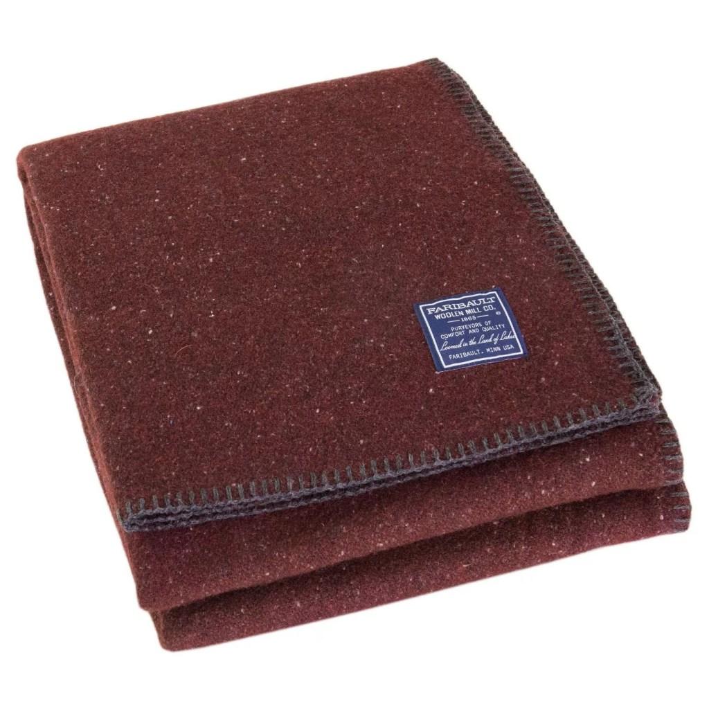 Utility Solid Bed Blanket by Faribault Woolen Mill