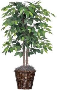 Vickerman 4-Feet Artificial Natural Ficus Bush