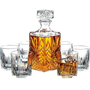 best whiskey gifts -Whiskey Glasses Set Decanter
