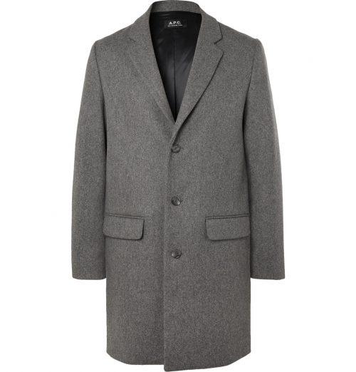 A.P.C. apc Manteau Mélange Wool-Blend Overcoat