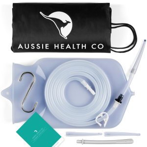 Aussie Health Co Non-Toxic Silicone Enema Bag Kit