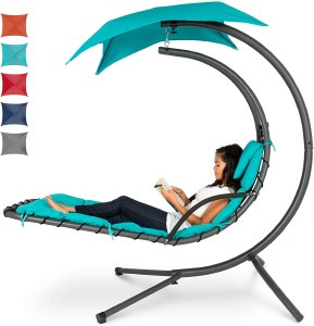 Best Choice Products Hanging Curved Chaise Lounge Chair