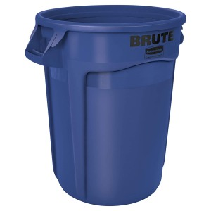Rubbermaid Commercial Products FG263200BLUE BRUTE Heavy-Duty Round Trash Can