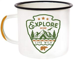 camping mugs enamel novelty