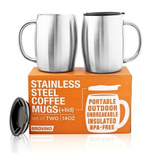 camping mugs stainless steel