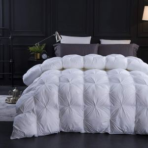 best down comforter pinch pleat