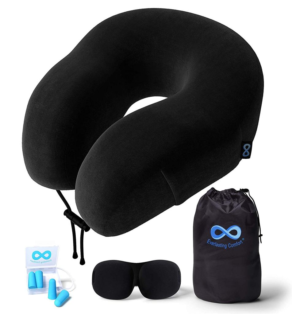 Everlasting Comfort Neck Pillow and Sleep Mask Set - Best Christmas Gifts