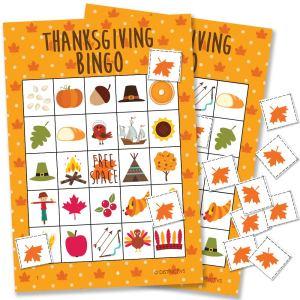 thanksgiving games bingo