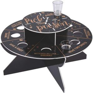 halloween party games for adults shot wheel