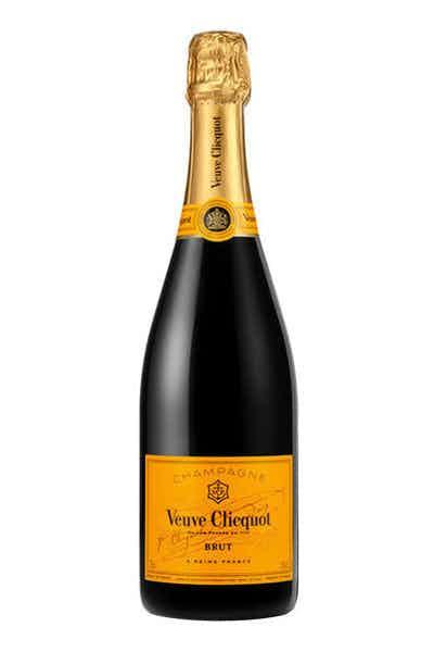 a bottle of Veuve Clicquot Brut Yellow Label best hostess gift
