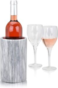 hostess gift ideas marble wine chiller