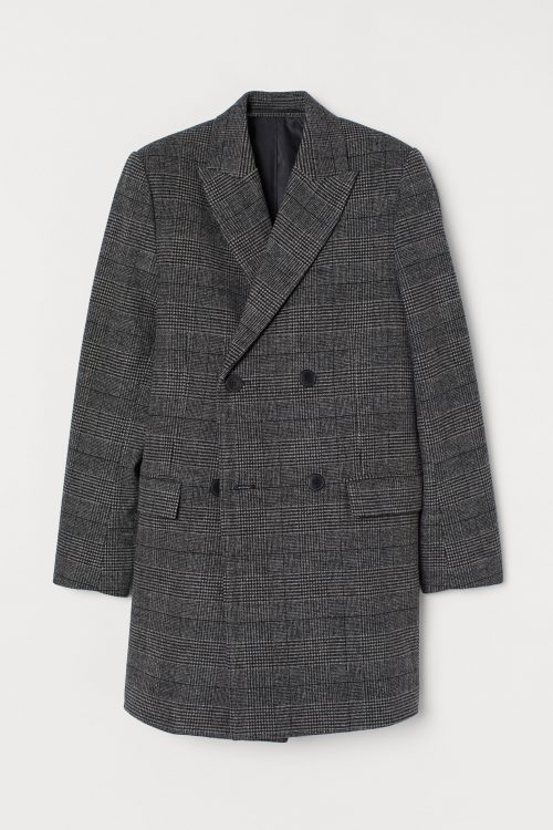 H&M Double-Breasted Winter Coat