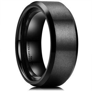 King Will Basic Men's Wedding Black Tungsten Ring