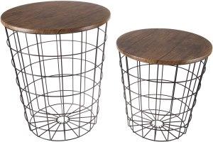 Lavish Home Storage Nesting Tables
