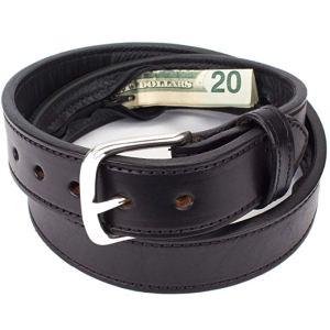 leather anti theft belt