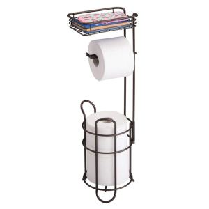 mDesign Freestanding Toilet Paper Stand