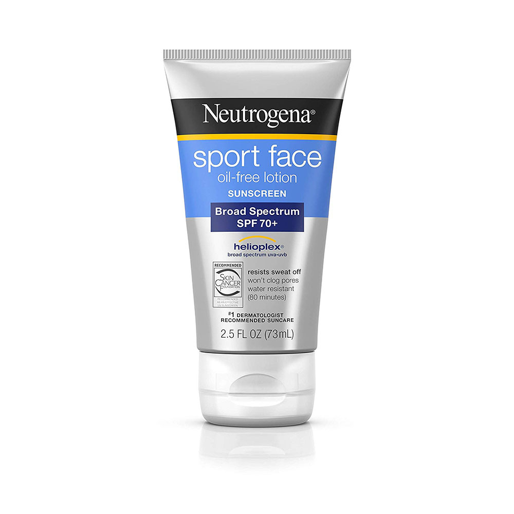 Neutrogena Sport Face Oil-Free Lotion Sunscreen with SPF 70+ - Amazon Jeremy Renner Store