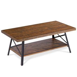 Olee Sleep Cocktail Wood & Metal Legs Coffee Table