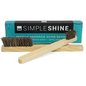 Simple Shine Horsehair Silver Brush Set