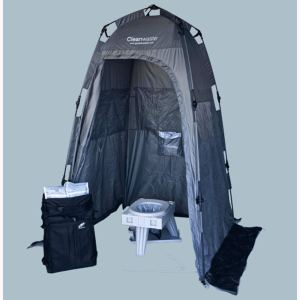 portable camping toilet private