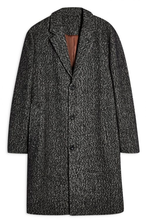 Topman Leon Herringbone Winter Coat