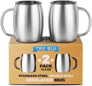 tru blu stainless steel mugs