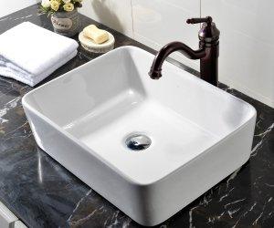 VCCUCINE Rectangle Above Counter Porcelain Ceramic Bathroom Sink