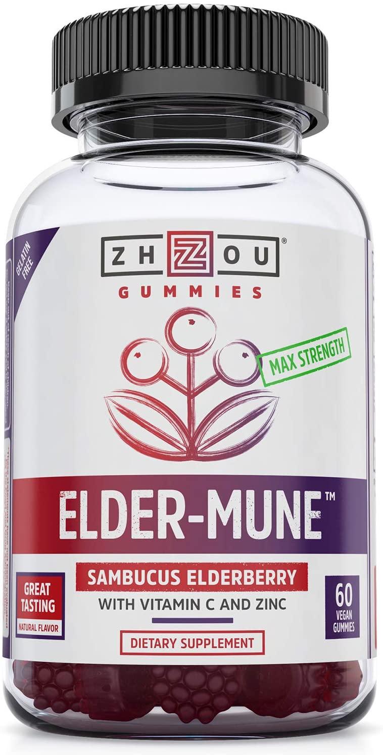 Zhou Nutrition Elder-Mune Sambucus Elderberry Gummies