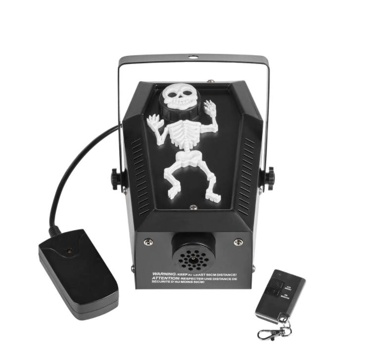 Coffin Skeleton Fog Machine