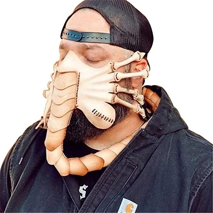 Halloween costume for men Alien face mask