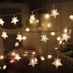 Twinkle Star LED Star String Lights