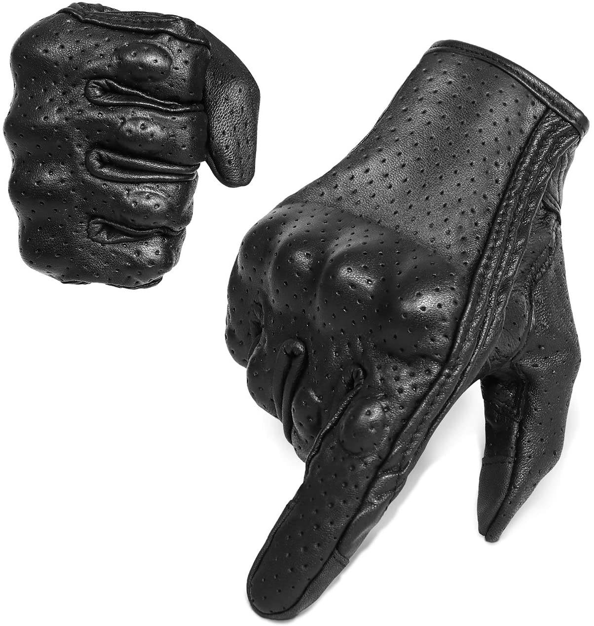 Superbike Leather Motorcycle Gloves
