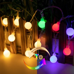 Minetom 33Ft 100 LED Globe Ball String Lights