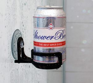 beer shower holder