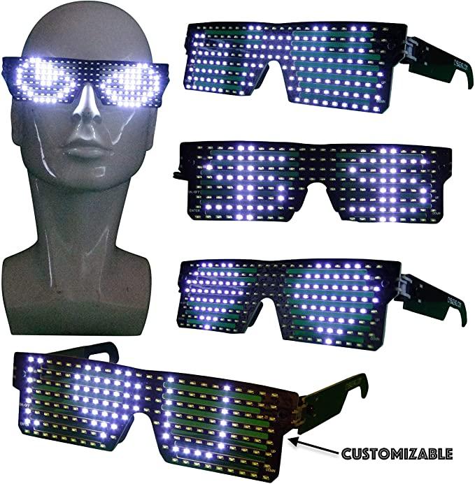 Halloween costume LED Light up glasses