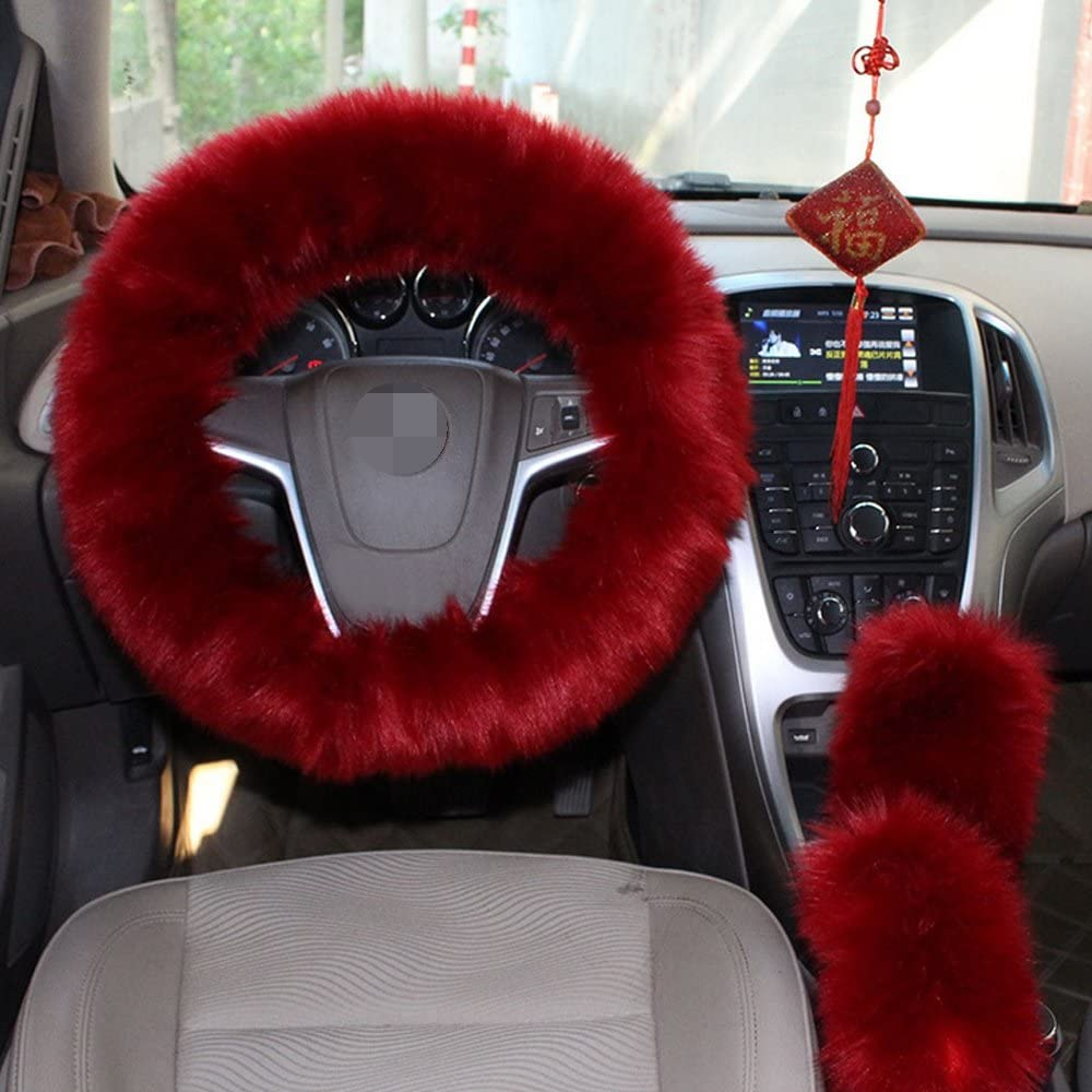Faux Wool Steering Wheel Cover