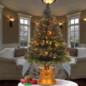 tabletop christmas trees fiber optic green pine