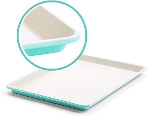 greenlife bakeware healthy ceramic nonstick cookie sheet
