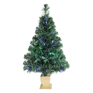 tabletop christmas trees holiday time fiber optic concord tree