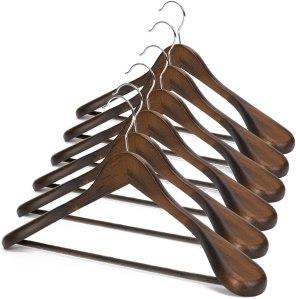JS HANGER Wooden Suit Hangers