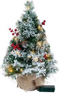 joiedomi flocked prelit tree