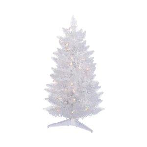 pre lit white artificial tree