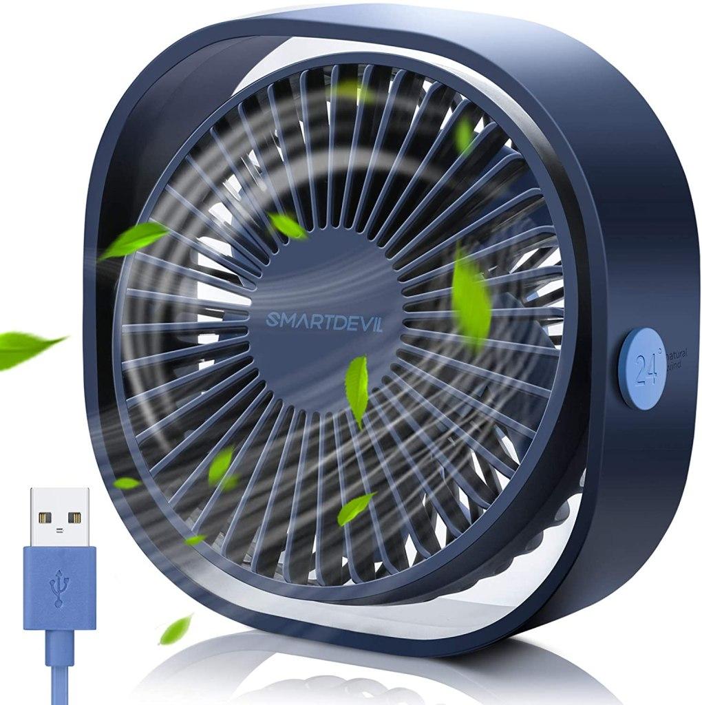 SmartDevil Small Personal USB Desk Fan