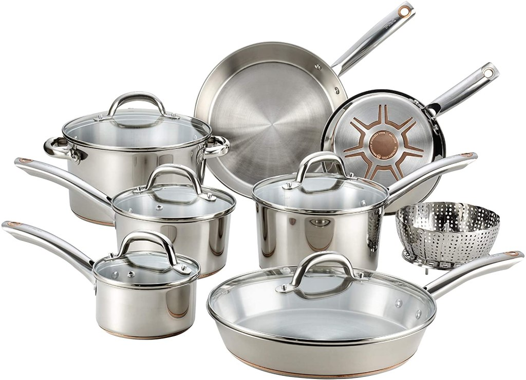 copper cookware t fal ultimate stainless steel